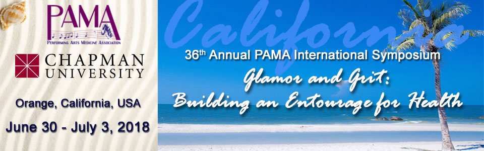36th Annual PAMA International Symposium: Glamor and Grit: Building An Entourage for Health
