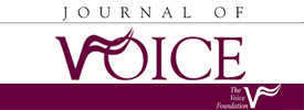 """Journal of Voice - """"Integrating Voice Evaluation: Correlation Between Acoustic and Audio-Perceptual Measures"""""""